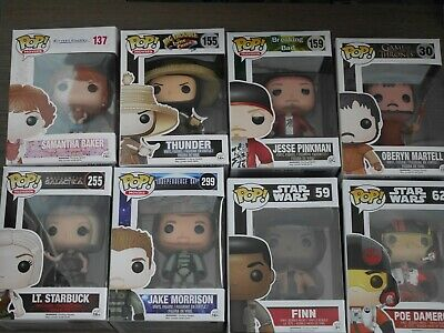 Funko Pop! Set of 8 Movie, Television, Game of Thrones and Star Wars