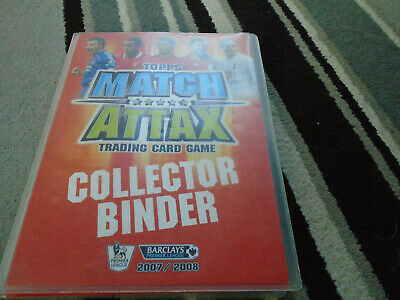 Topps Match Attax Trading Card Game Collectors Binder Nearly Full 2007-8