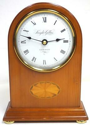 Quality Mahogany Walnut Arched Top Shaped Mantel Clock - Knight & Gibbins London