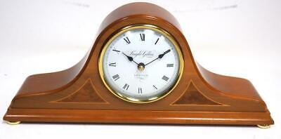 Quality Mahogany Walnut Inlaid Hat Shaped Mantel Clock - Knight & Gibbins London