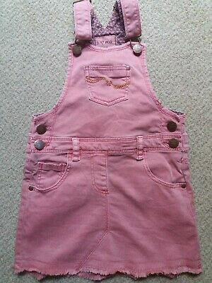 Girls Next Pink Pinafore Dress Age 5 Excellent Condition