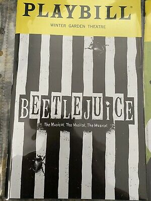Beetlejuice Broadway Playbill Musical OBC