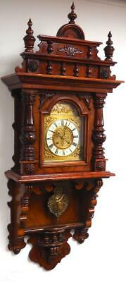 Antique German Kienzle Walnut 8 Day Striking Vienna Free Swinging Wall Clock