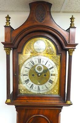 Antique Grandfather Clock Pagoda Top 5 Pillar London 8 Day Longcase Clock C1760