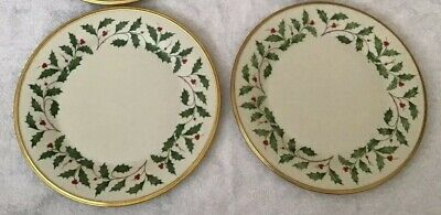 2 Lenox Dimension Collection HOLIDAY Dinner Plates 10 3/4
