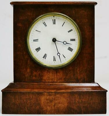 Wonderful Antique French Tic Tac Escapement Mahogany Cube Style Mantel Clock