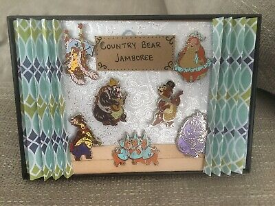 Disney Pin Country Bear Jamboree Hidden Mickey Wave C Complete Set On Stage