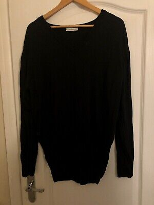Brand New John Smedley Connell Polo Neck Jumper In Black Size M
