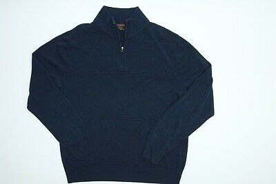 1//4-Zip Sweater DOCKERS Men/'s Size Small Blue Pullover Jacket FREE Shpg NWTA