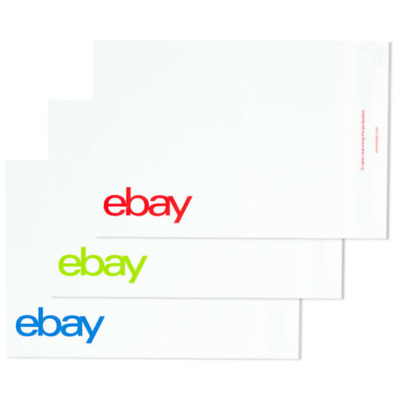 "eBay-Branded Polymailer Red Green & Blue 9"" x 11.5"" (No Padding)"