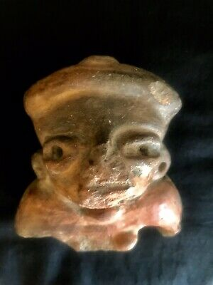Pre-Columbian Mayan Effigy Clay Figure, Central America