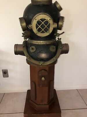 Full Size Diving Helmet And Stand - U.S Navy Mark V