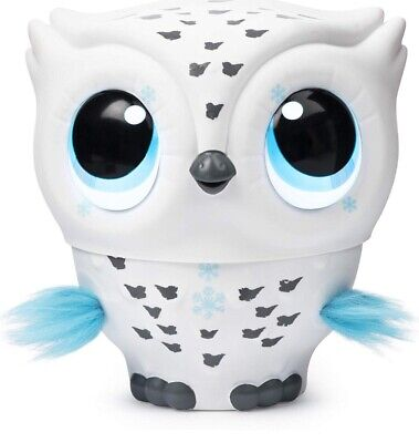 Owleez, Flying Baby Owl Interactive Toy Interactive With Lights And Sounds WHITE
