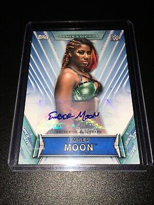 Ember Moon 2019 Topps WWE Womens Division #A-EM Autograph Auto 72/199 Smackdown
