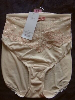 M & S Soft Pink High Leg Sumptuously Soft Knickers BNWT Size 22