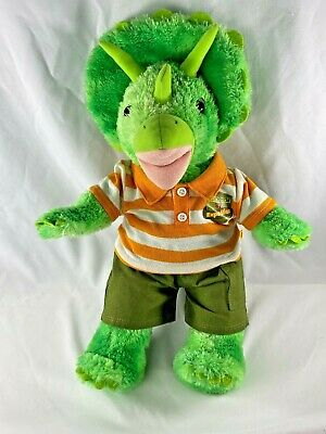 Build a Bear Triceratops Green Dinosaur + Clothes Stuffed Plush Retired - BABW