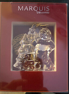 Marquis Waterford Crystal Glass Santa Christmas Holiday Ornament