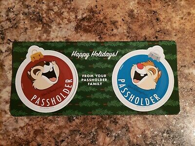 Walt Disney World Chip And Dale Annual Passholder Magnet Set 2019 Authentic