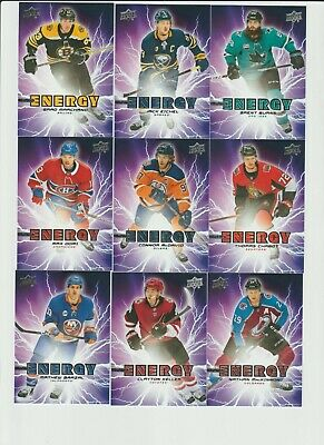 2019-20 Upper Deck Series 1 Pure Energy Inserts U Pick