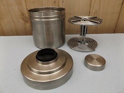 Vintage Brooks Stainless Steel Developing Film Tank With Spiral Reel