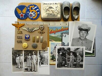 WW2 to KW Group to USAAF 5th Air Force Pilot, wings, insignia, photos, souvenirs