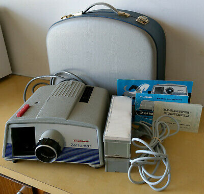Voigtländer Zettomat f/2.8/100 Miniature Slide Projector With Case & Accessories
