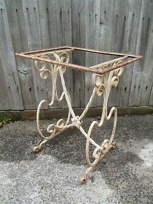 Cast iron table frame wrought iron table outdoor garden table stand