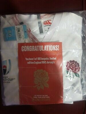 England Rugby Pro Replica World Cup Home Shirt 2019 Limited Edition Xl Mens Bnwt