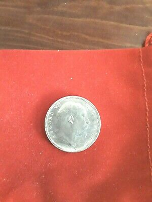 One Rupee Silver Coin  King Edward Vii 1906