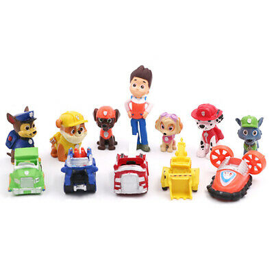 Nickelodeon PAW Patrol Figure Set of 12 with Transport Dolls Kids Toys PVC