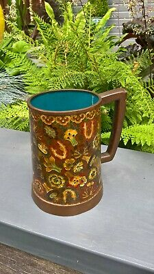 Antique Chinese Cloisonne old mug with nice colours very different