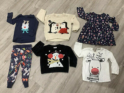 Baby Girl Christmas Clothes Bundle Jumpers Outfit Dress 12-18 Months From NEXT