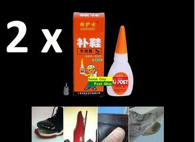 .Super Adhesive Repair Glue For Shoe Leather Rubber Canvas Tube Strong Bond AU