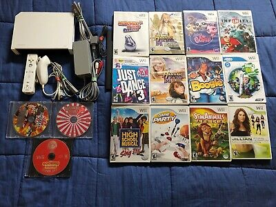 Nintendo Wii White System w/15 Games Console Bundle - GAMECUBE COMPATIBLE Kids