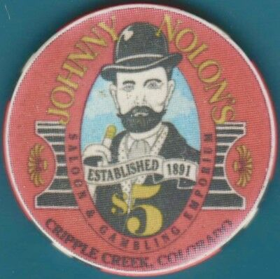 $5 Casino Chip. Johnny Nolan's, Cripple Creek, CO. K58.