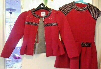 Mayoral Girls Dress & Jacket Set 134/9yrs REALLY NICE OUTFIT good condition