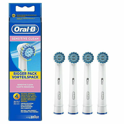 Oral-B SENSITIVE CLEAN Electric Toothbrush Replacement Brush Heads 4 HEAD PACK