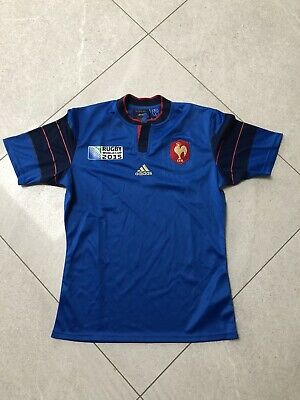 France Rugby Union World Cup 2015 Adidas Home Shirt Jersey Size L Large