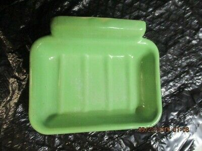 Vintage Wall Mount Soap Dish Jadeite Green Soap Dish Very Good Condition 1940s
