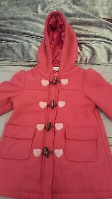 Girls marks and Spencer's M&S autograph wool duffle coat pink age 2-3