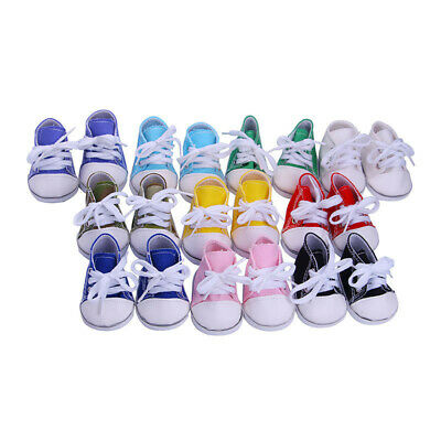 """Hot Handmade Canvas Shoes Shoes Fits 18"""" Inch American Girl Boy Doll Shoes"""