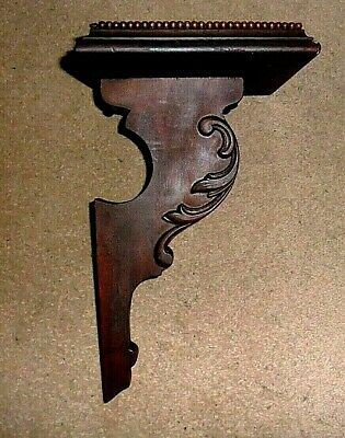 **Antique /Vintage Ornate Clock Wall Bracket Solid Mahoghany