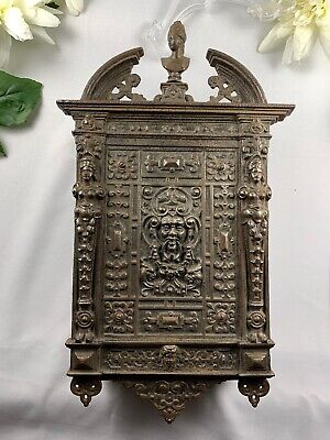 Ornate Victorian Cast Metal Panel / Letter Box