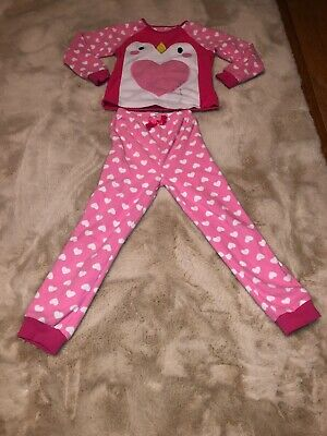 Girls Tu Fleecy Christmas Pjs Aged 6-7 Yrs