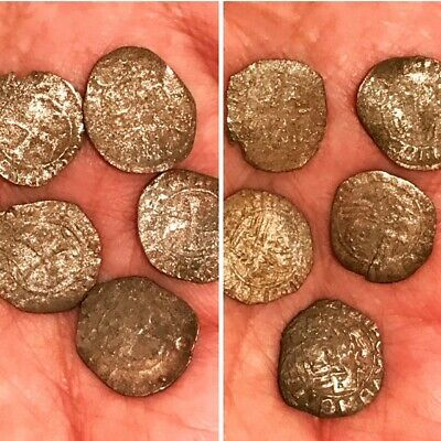 Ancient  Armanian  Eastern 5 with cross coins early AD very rare