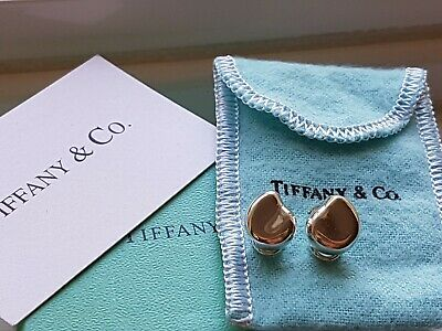 Authentic Rare Vintage Tiffany & Co Elsa Peretti Clip On Bean Earrings