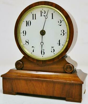 Beautiful 19thC Antique French Tic Tac Escapement Mahogany Mantel Carriage Clock