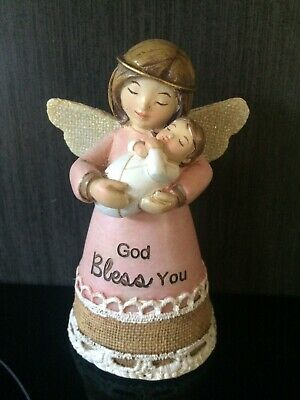 Christening Baptism New Baby Angel Statue Boxed
