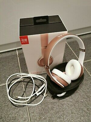 BEATS solo 3 wireless HEADPHONES, rose gold, genuinely only used once! Dr Dre!