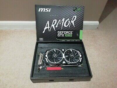 MSI Armor GeForce GTX1060 6GB OC Edition Graphics Card